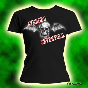 Official Skinny T Shirt AVENGED SEVENFOLD Logo M 10 Preview